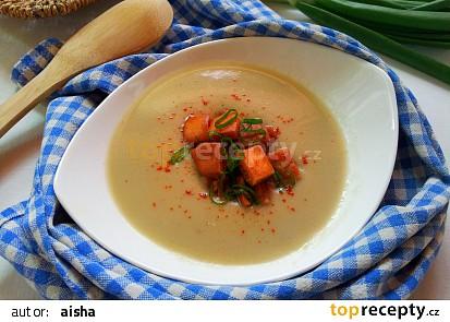 Krémová česneková cibulačka