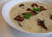 Krémová fazolová polévka s koprem