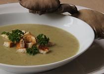 Krémová hlívovo-pórková polévka