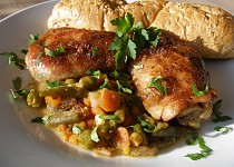 Kuřecí na letní zelenině a víně v PH