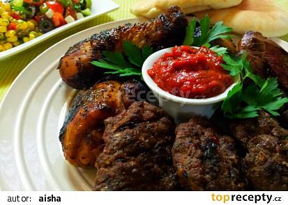 Mix grill s ostrou omackou