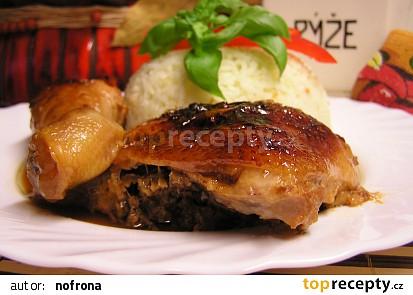 Pečené kuře v citrono - medové marinádě s česnekem