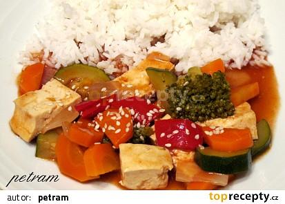 Tofu v zelenině