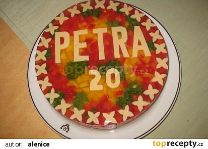 Aspikový dort narozeninový-hladký