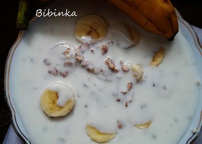 Banány s kokosovým jogurtem