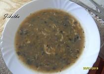 Celerovo-pórková polévka s houbami