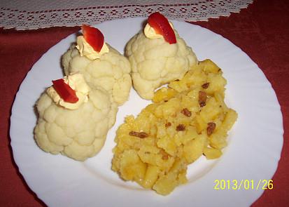 květák z MW se šťouchanými bramborami