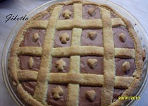 Linecký koláč s tvarohovo-pudinkovou náplní