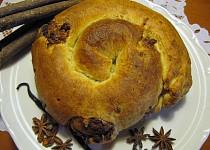 Marocký mandlový závin - M´hencha