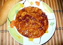 Mexické fazole s masem