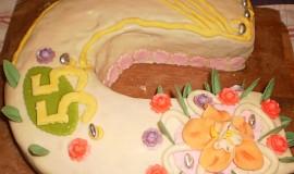 Mramorová podkova s domácím marcipánem
