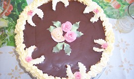 Ořechový dort