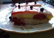 Ovocné řezy s vanil. krémem a želatinou