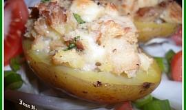 Pečené brambory s uzenou nádivkou