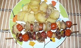 Špízy s brambory (2v1)