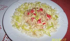 Těstoviny s krabími tyčinkami