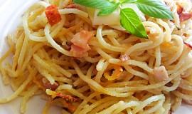 Zapečené špagety ve smetaně