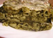 Zapečené těstoviny se špenátem a la lasagne