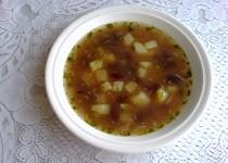 Bramborová polévka s fazolemi