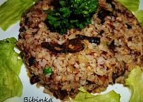 Krupkové rizoto s houbami shitake