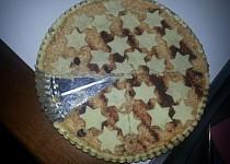 Linecký koláč s jablky a vanilkovým tvarohem