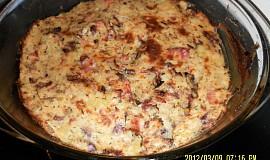 Maso se zeleninou zapečené ve smetaně