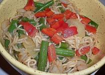 Mie Goreng udang (Fried Noodles with shrimps) (Smažené nudle s krevetami)