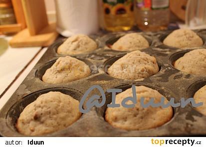 Oříškové muffiny  -  hrníčkový recept