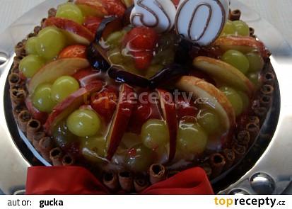 Ovocný dort s piškoty