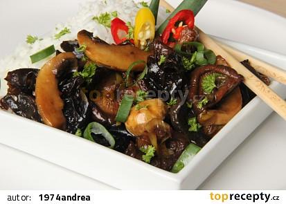 Pikantní houby po asijsku