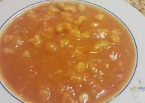 Rajská polévka s noky