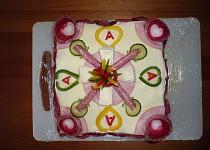 Slaný dort - ke svátku zamilovaných