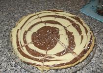 Tvarohovo-čokoládový koláč
