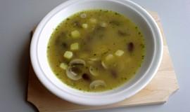 Žampiónová polévka s fazolemi