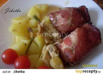 Zapečené kuřecí závitky