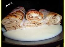 Zapečené palačinky s vanilkovým krémem