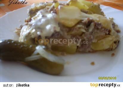 Zapékané brambory s mletým masem
