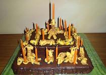 Žirafový dort