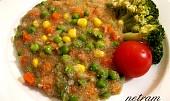 Amarant se zeleninou na způsob rizota
