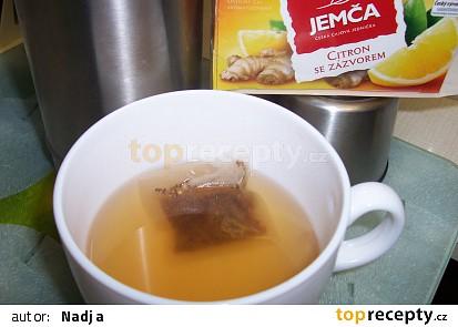 tentokrát čaj citron se zázvorem
