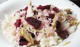 Červená řepa s rýží a kuřecím masem