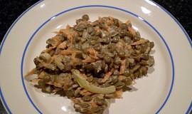 Čočkový salát s mrkví - vegan