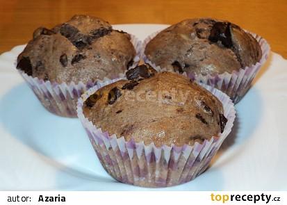 Čokoládové muffiny jednoduché