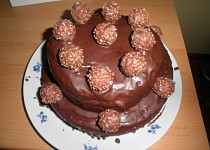 Čokoládový dort Ferrero Rocher