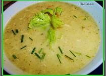 Krémová řapíkatá polévka s brokolicí...