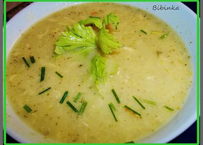 Krémová řapíkatá polévka