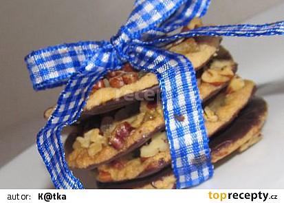 """""""Lehce pikantní sušenky ve stylu amerických cookies"""" Zázvorové sušenky s pekanovými ořechy"""