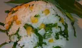 Rýže s kukuřicí a medvědím česnekem