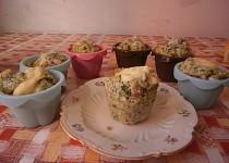 Muffiny se špenátem a nivou