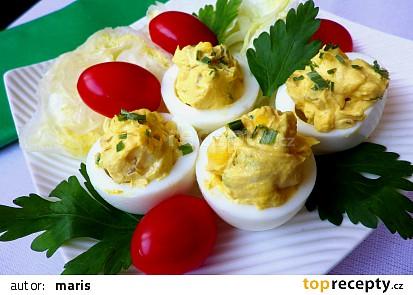 Plněná vejce s tvarůžky